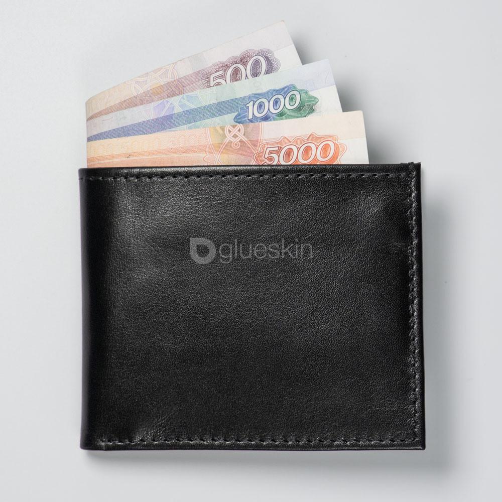 Кожаный кошелёк JUST BLACK