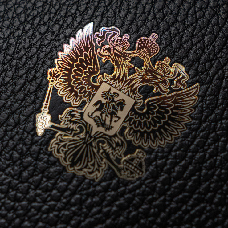 Чехол с кожей Classic RF GOLD для Apple iPhone 12 mini