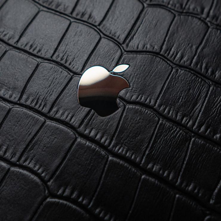 Чехол с кожей Croco APPLE GOLD для Apple iPhone 12 mini