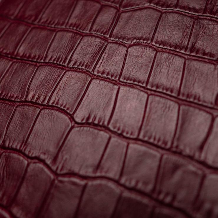 Чехол с кожей WINE RED CROCO для Apple iPhone 12 mini