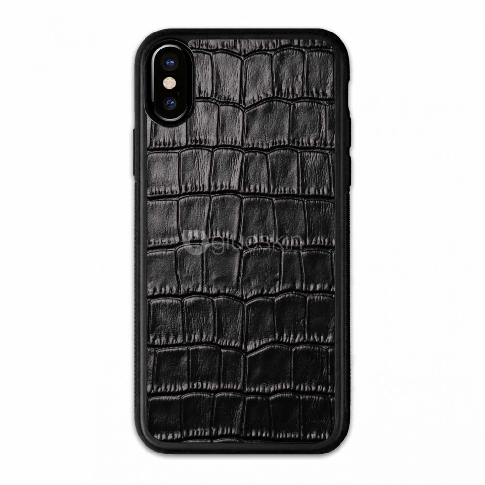 Чехол с кожей CROCO для Apple iPhone Xs Max