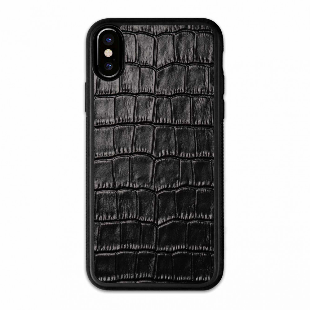 Чехол с кожей CROCO для Apple iPhone Xr
