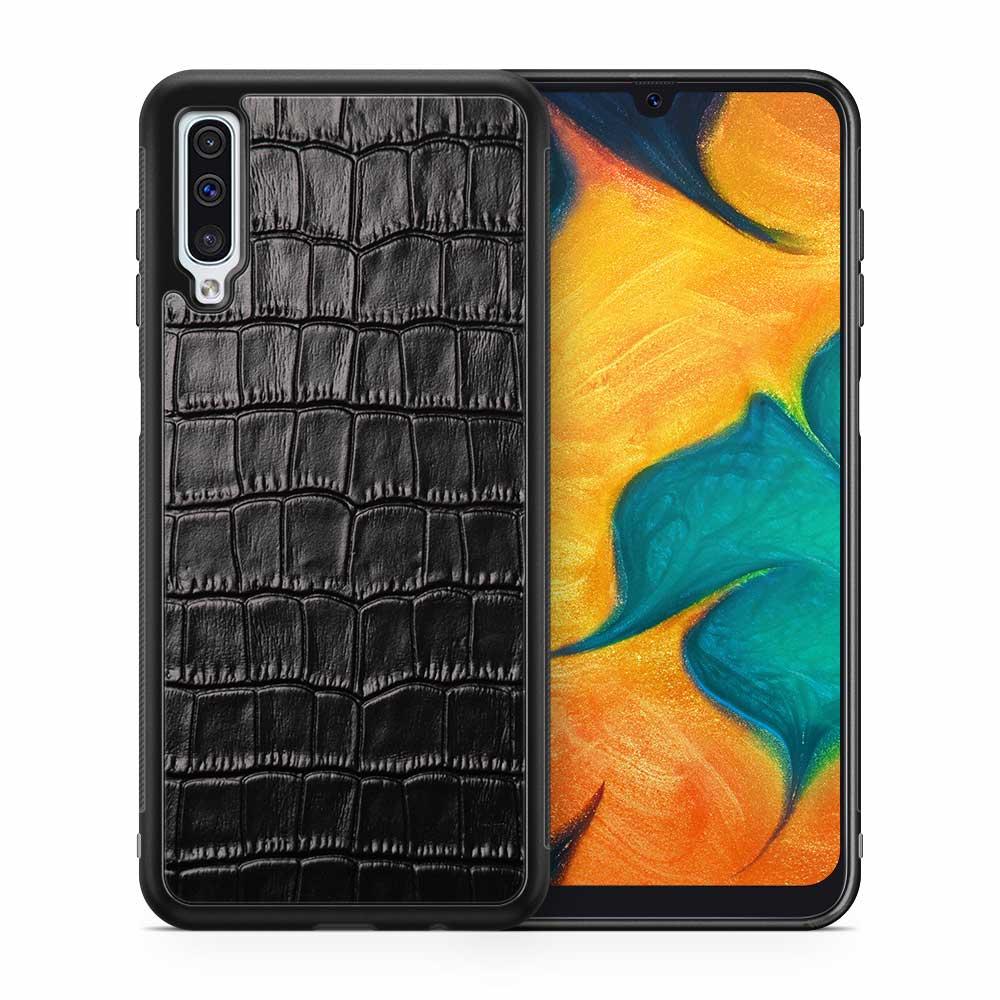 Чехол с кожей CROCO для Samsung Galaxy A50
