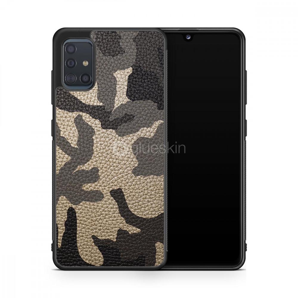 Чехол с кожей MILITARY для Samsung Galaxy S20 FE