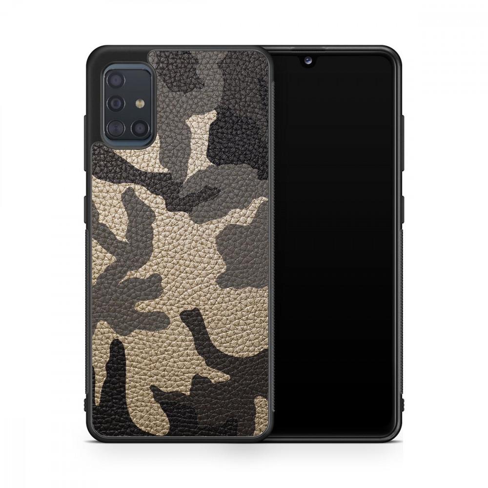 Чехол с кожей MILITARY для Samsung Galaxy S20