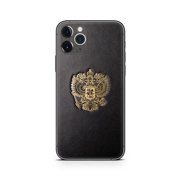 Кожаная наклейка RF GOLD для Apple iPhone 11 Pro Max