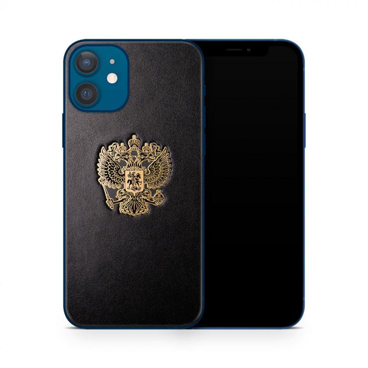 Кожаная наклейка RF GOLD для Apple iPhone 12