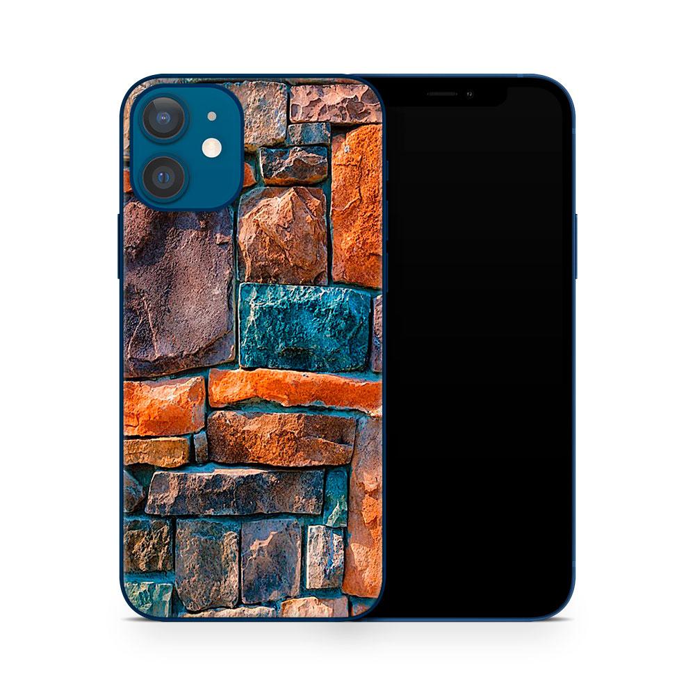 Кожаная наклейка СТЕНА МИРА для Apple iPhone 12
