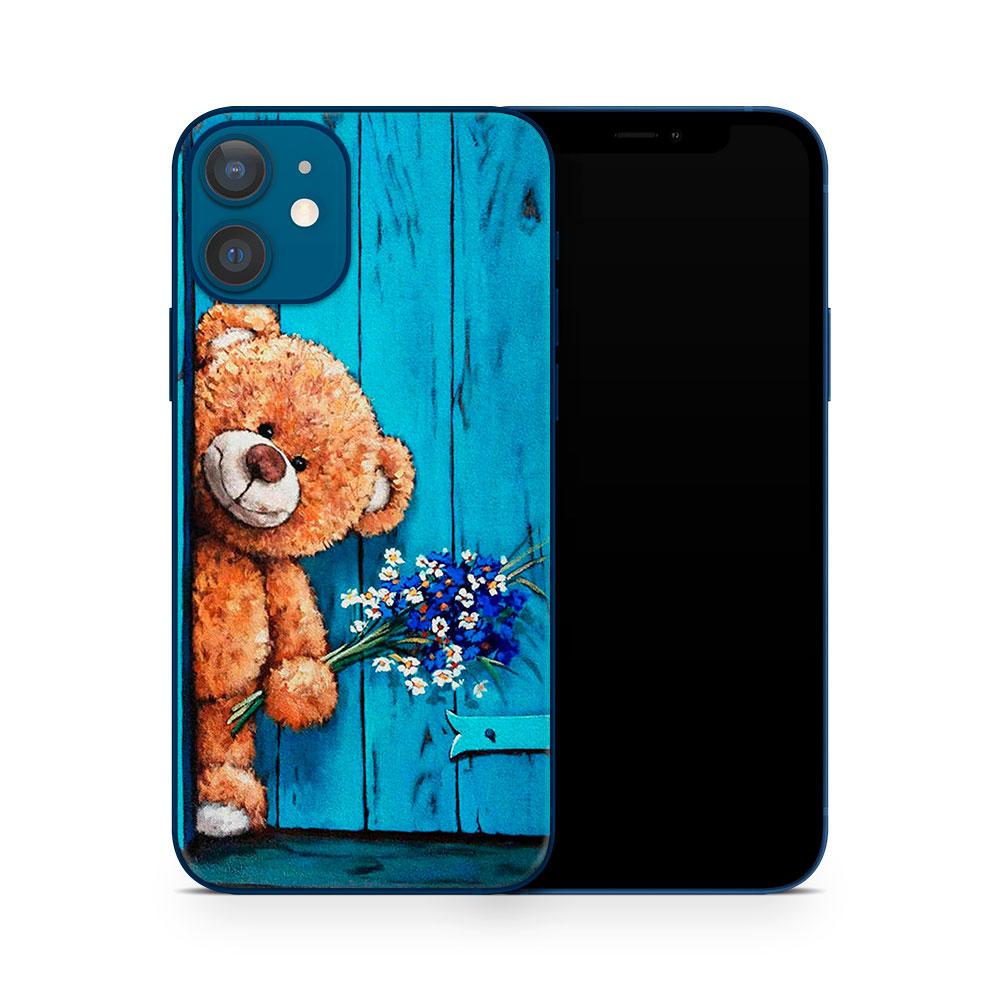 Кожаная наклейка ТЕДДИ для Apple iPhone 12 mini
