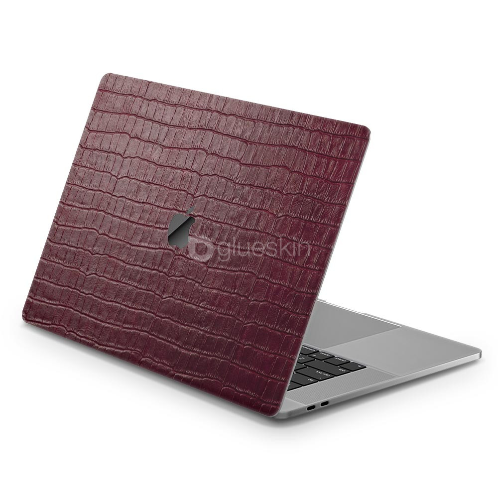Кожаная наклейка WINE RED CROCO для Apple MacBook 12''