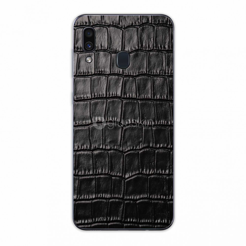 Кожаная наклейка CROCO для Samsung Galaxy A20