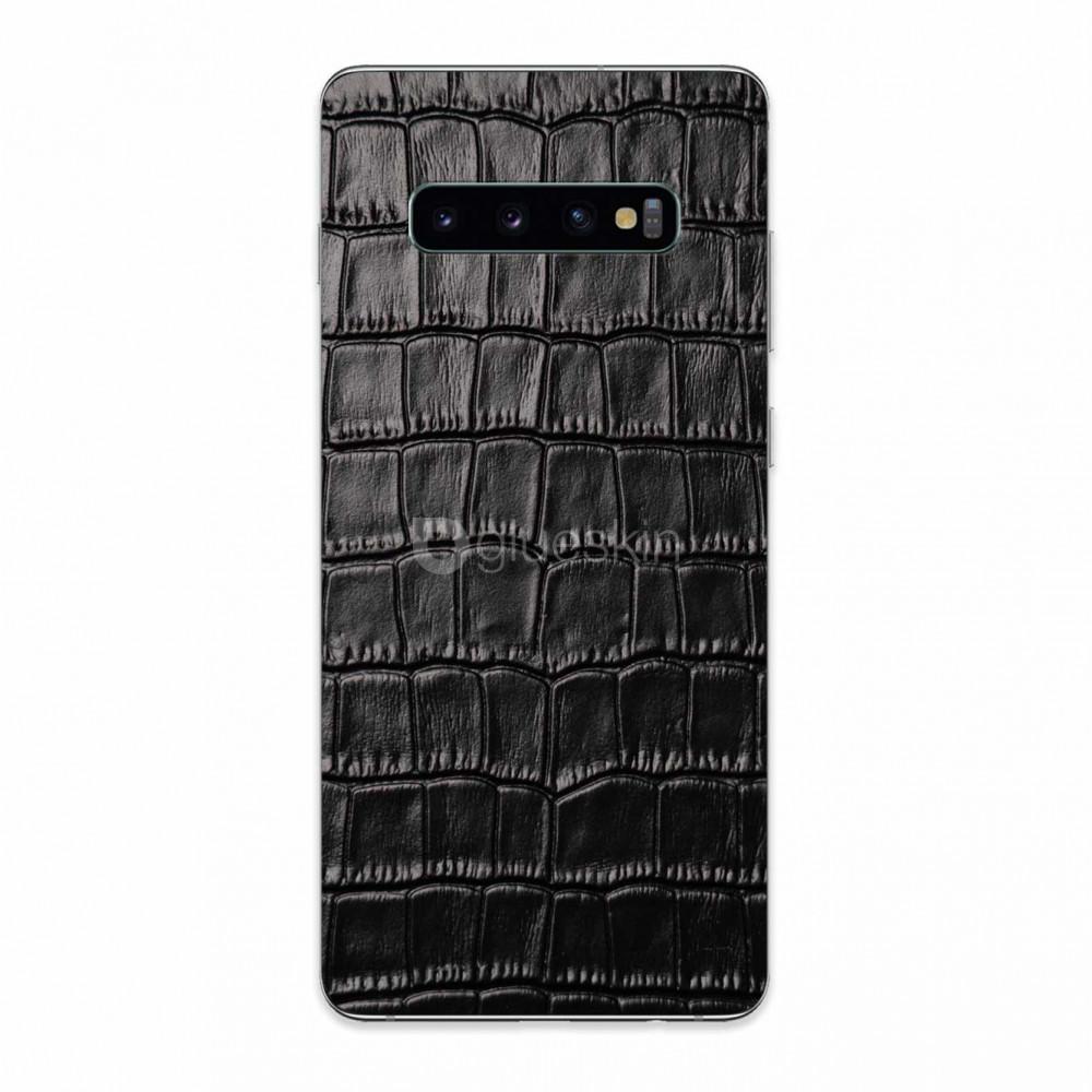 Кожаная наклейка CROCO для Samsung Galaxy S10
