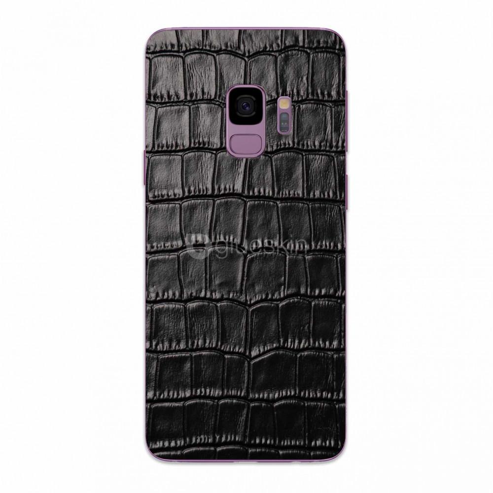 Кожаная наклейка CROCO для Samsung Galaxy S9