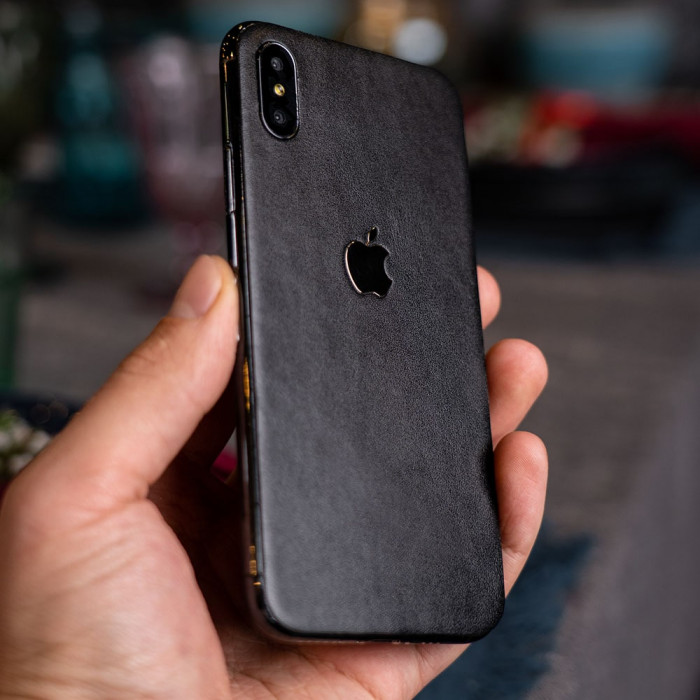 Кожаная наклейка APPLE GOLD для Apple iPhone Xs Max