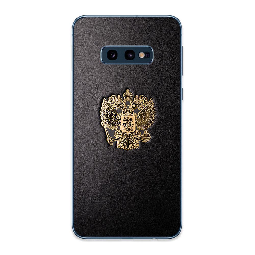 Кожаная наклейка  RF GOLD для Samsung Galaxy S10e