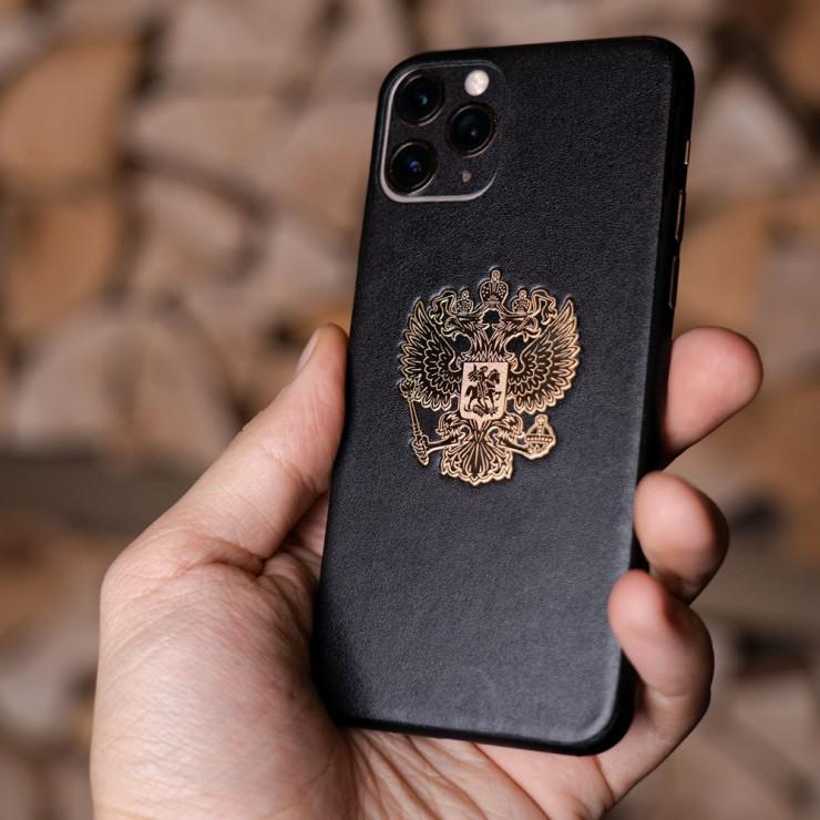 Кожаная наклейка  RF GOLD для Samsung Galaxy S8 Plus
