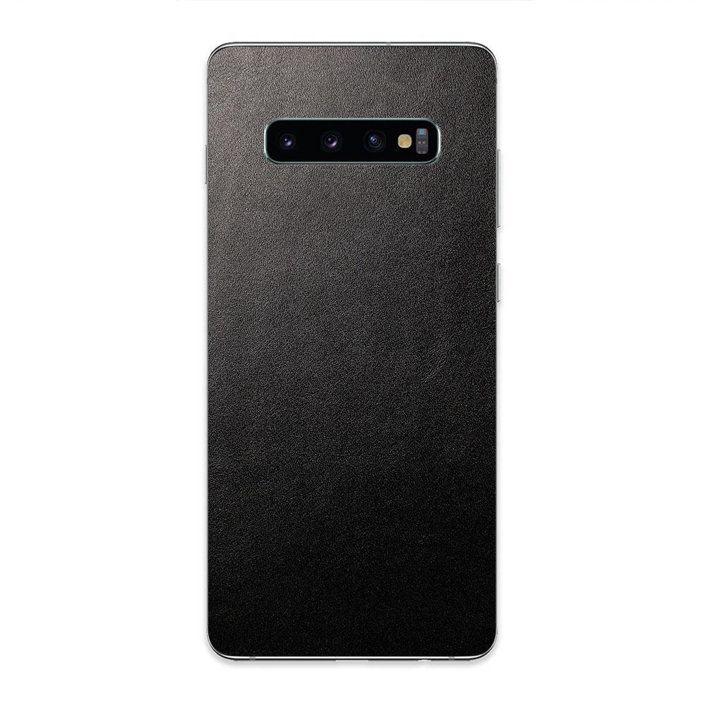 Кожаная наклейка JUST BLACK для Samsung Galaxy S10