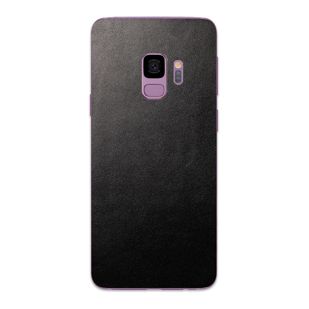 Кожаная наклейка JUST BLACK для Samsung Galaxy S9
