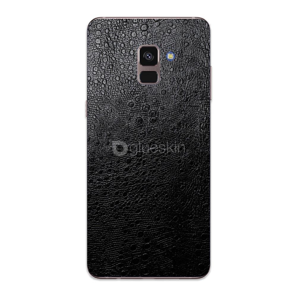 Кожаная наклейка OSTRICH для Samsung Galaxy A8 Plus