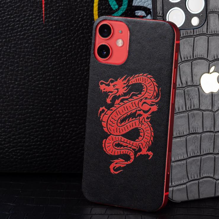 Кожаная наклейка RED DRAGON для Apple iPhone 11 Pro Max