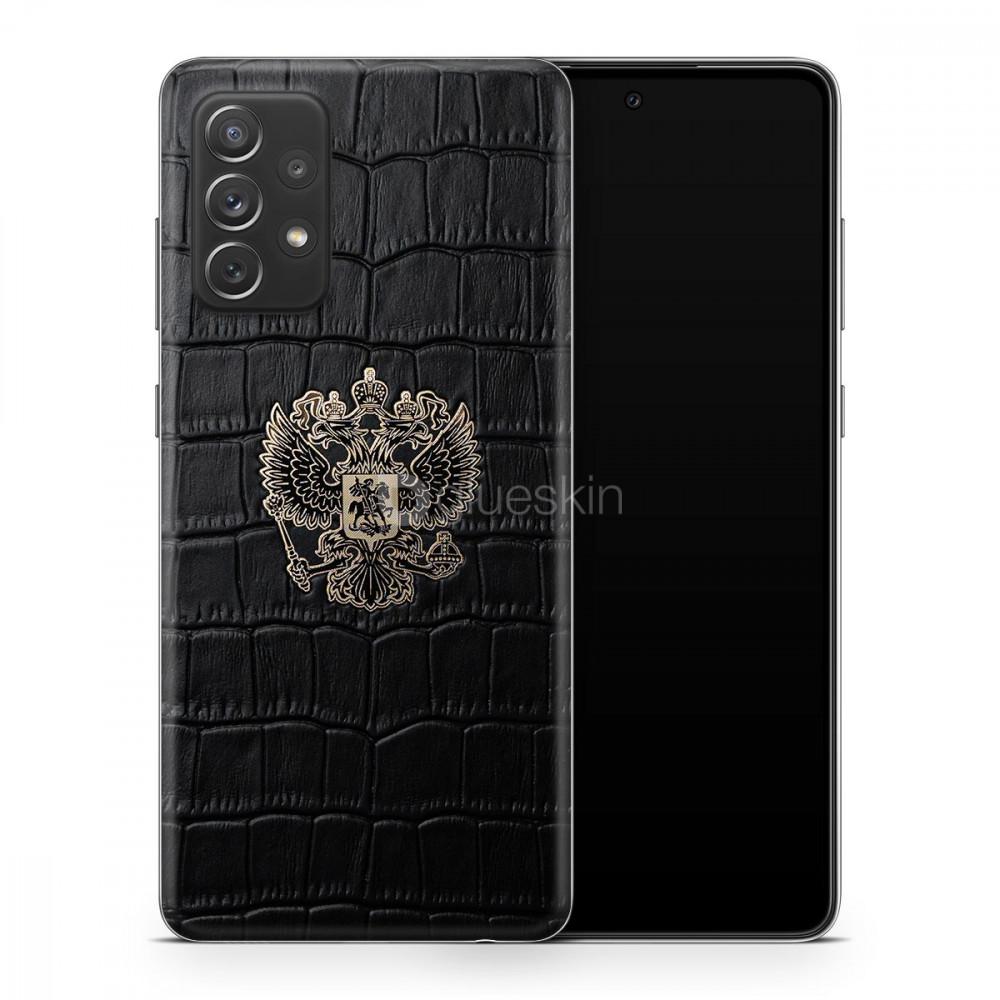 Кожаная наклейка  Croco RF GOLD для Samsung Galaxy A52