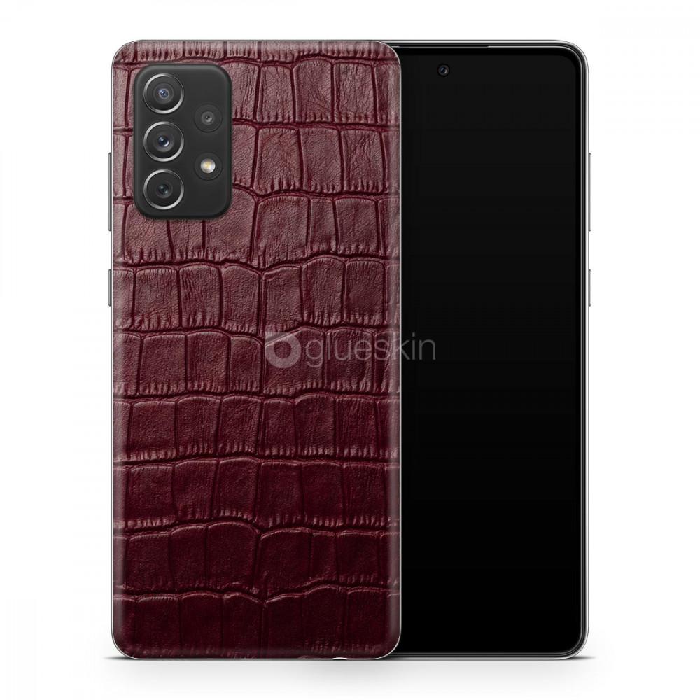 Кожаная наклейка WINE RED CROCO для Samsung Galaxy A52