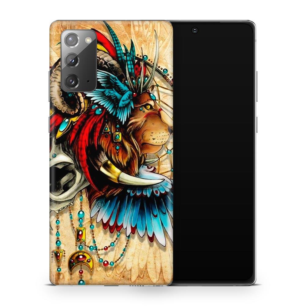 Кожаная наклейка ЛОВЕЦ СНОВ для Samsung Galaxy Note 20