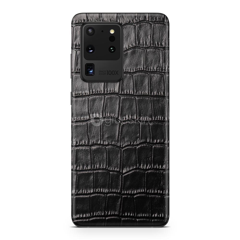 Кожаная наклейка CROCO для Samsung Galaxy S20 Ultra