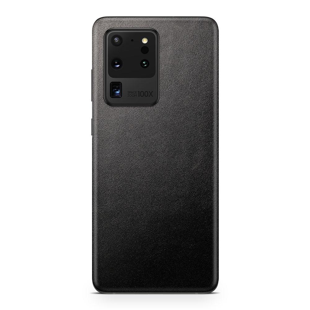 Кожаная наклейка JUST BLACK для Samsung Galaxy S20 Ultra