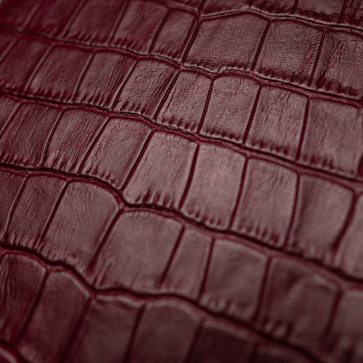 Кожаная наклейка WINE RED CROCO для Apple iPhone 6 Plus/6s Plus