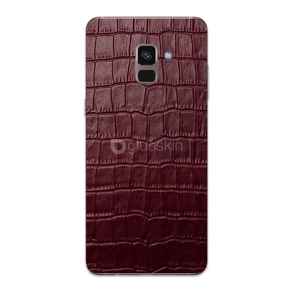 Кожаная наклейка WINE RED CROCO для Samsung Galaxy A8