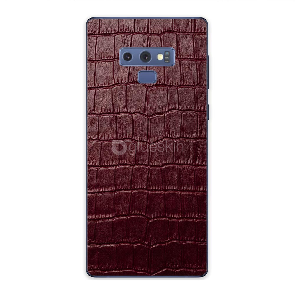 Кожаная наклейка WINE RED CROCO для Samsung Galaxy Note 9